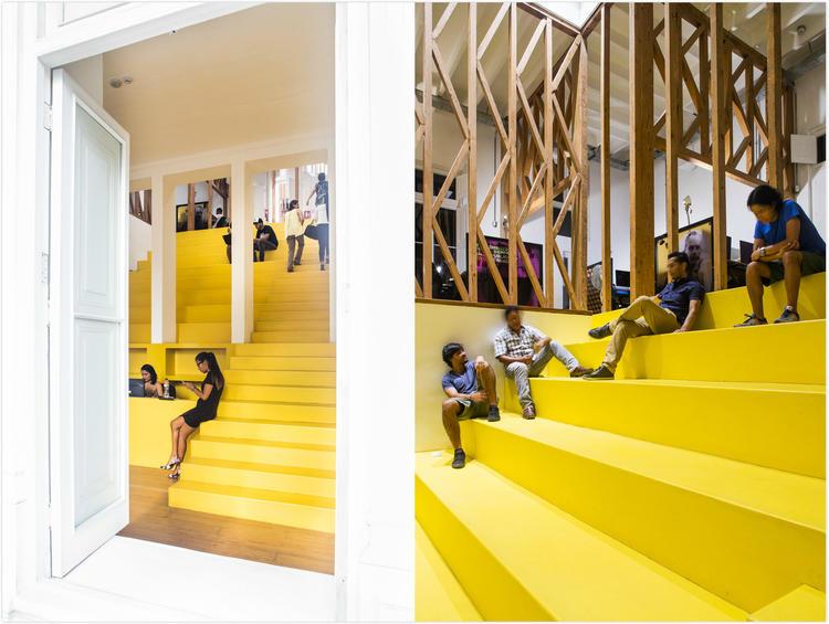 秘鲁优秀广告公司办公室空间设计,很黄很创意