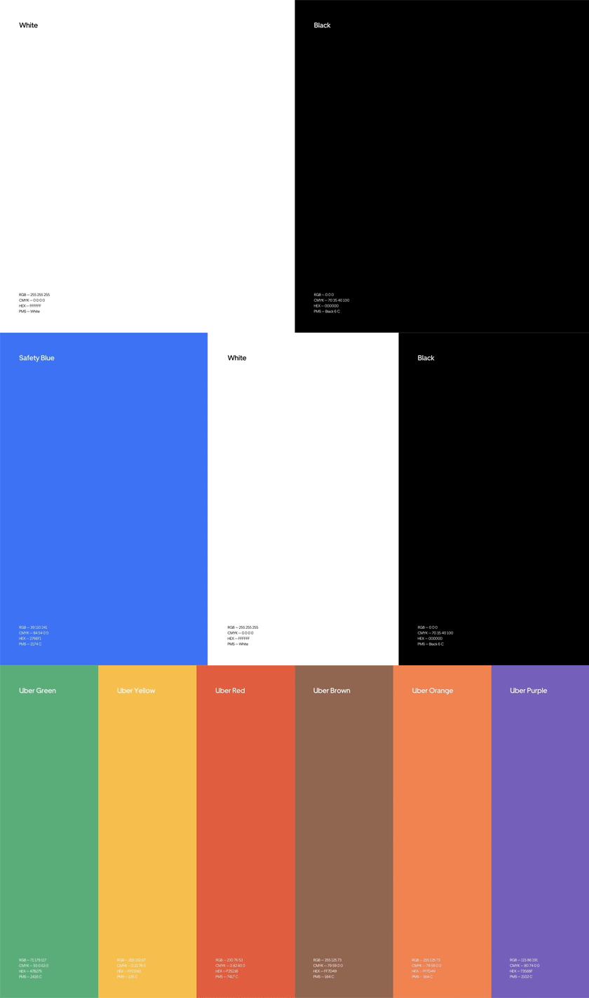 Uber品牌VI设计, 标准色设计