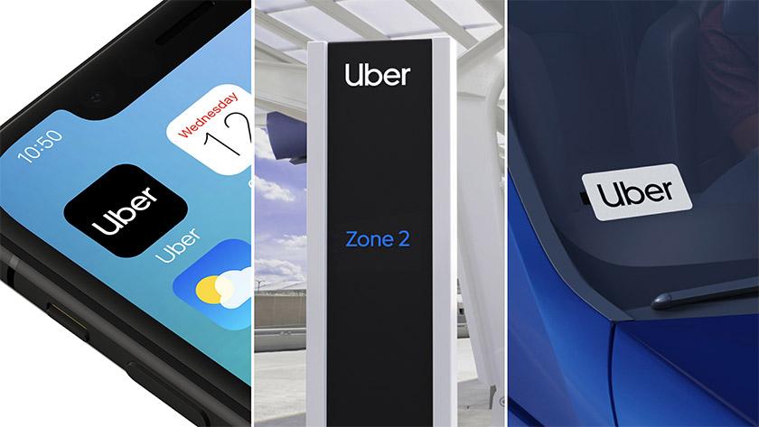 Uber品牌VI设计, 标志广告设计应用