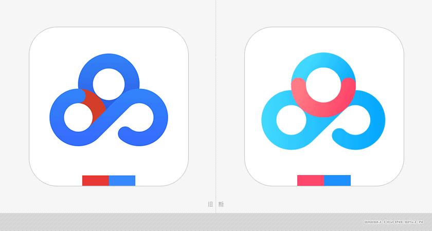 百度网盘产品形象设计,新旧app图标设计对比