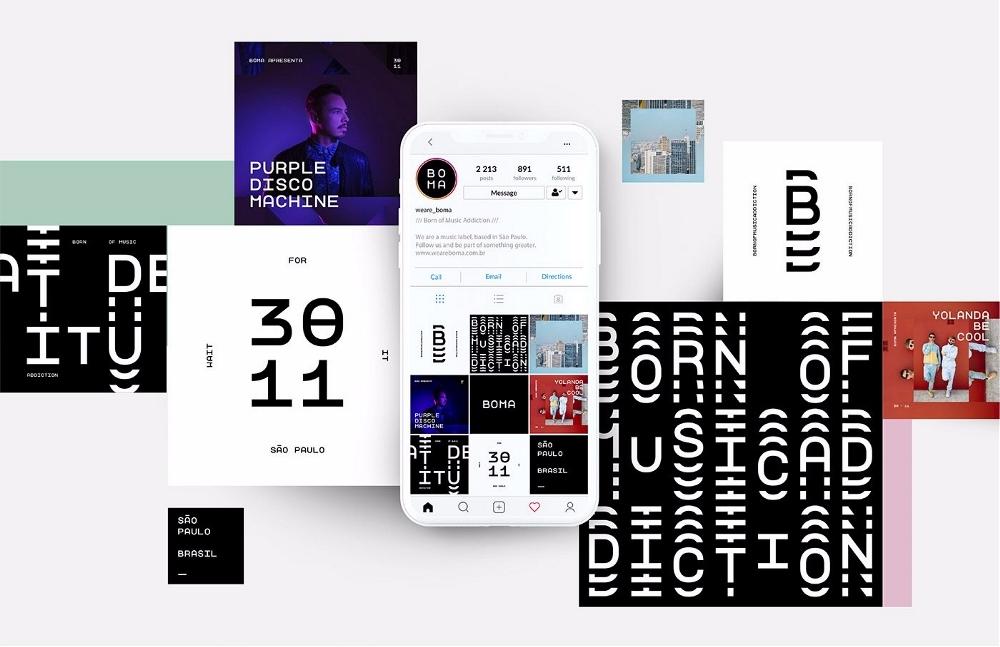 BOMA 音乐平台整套企业形象设计,企业形象设计,深圳企业形象设计