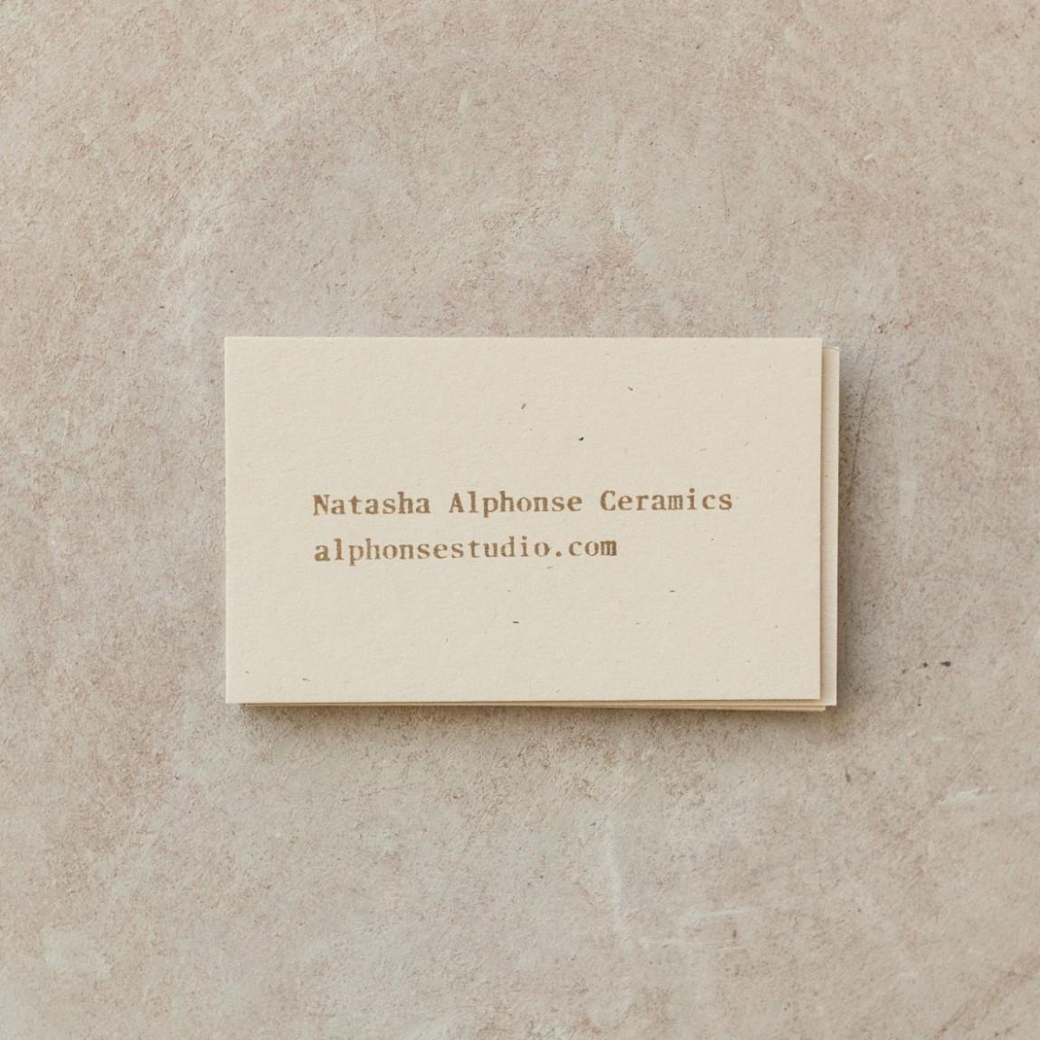 Natasha陶艺品牌视觉识别系统VIS设计 ,名片设计