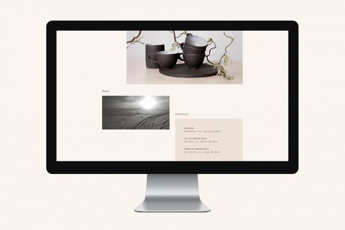 Natasha陶艺品牌视觉识别系统VIS设计, 官网设计