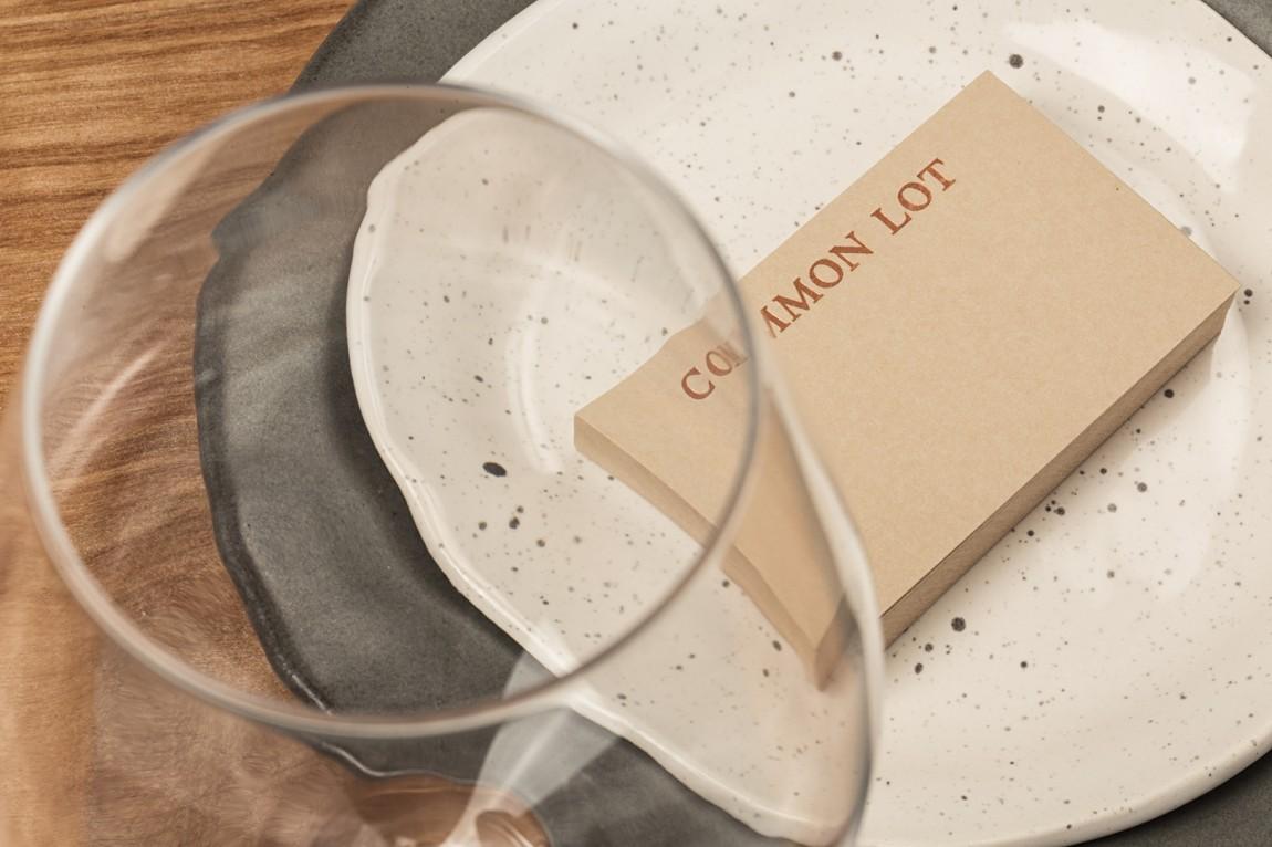 Common Lot餐饮品牌vi设计,名片设计