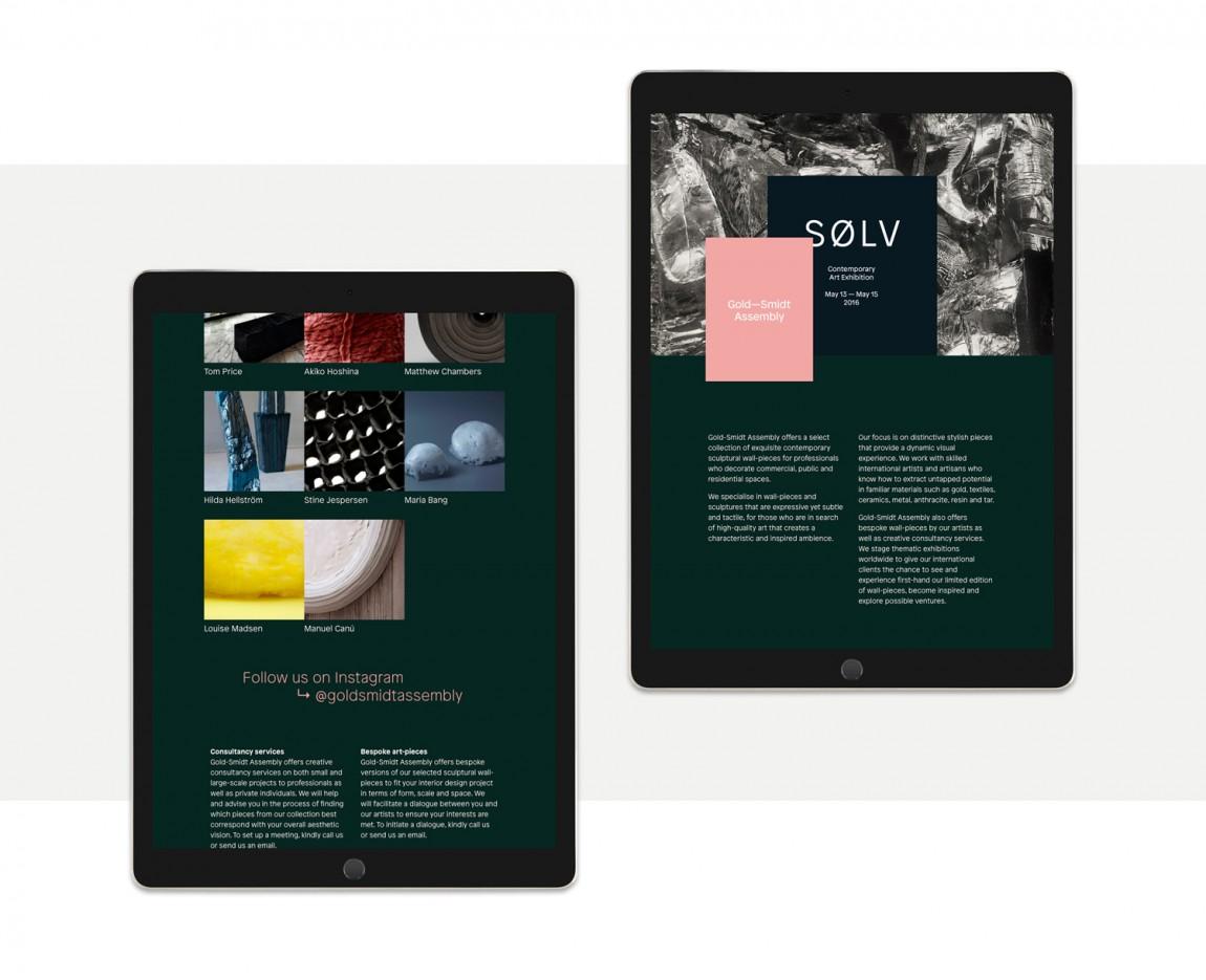 GoldSmidt艺术画廊品牌形象设计,自适应网站设计