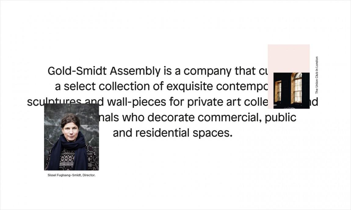 GoldSmidt艺术画廊品牌形象设计,企业网站设计
