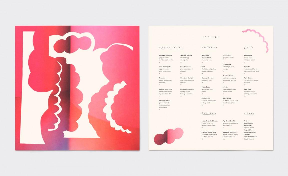 Sauvage餐厅餐饮酒吧咖啡馆品牌vi形象设计,美式欧洲风格, 点餐单设计