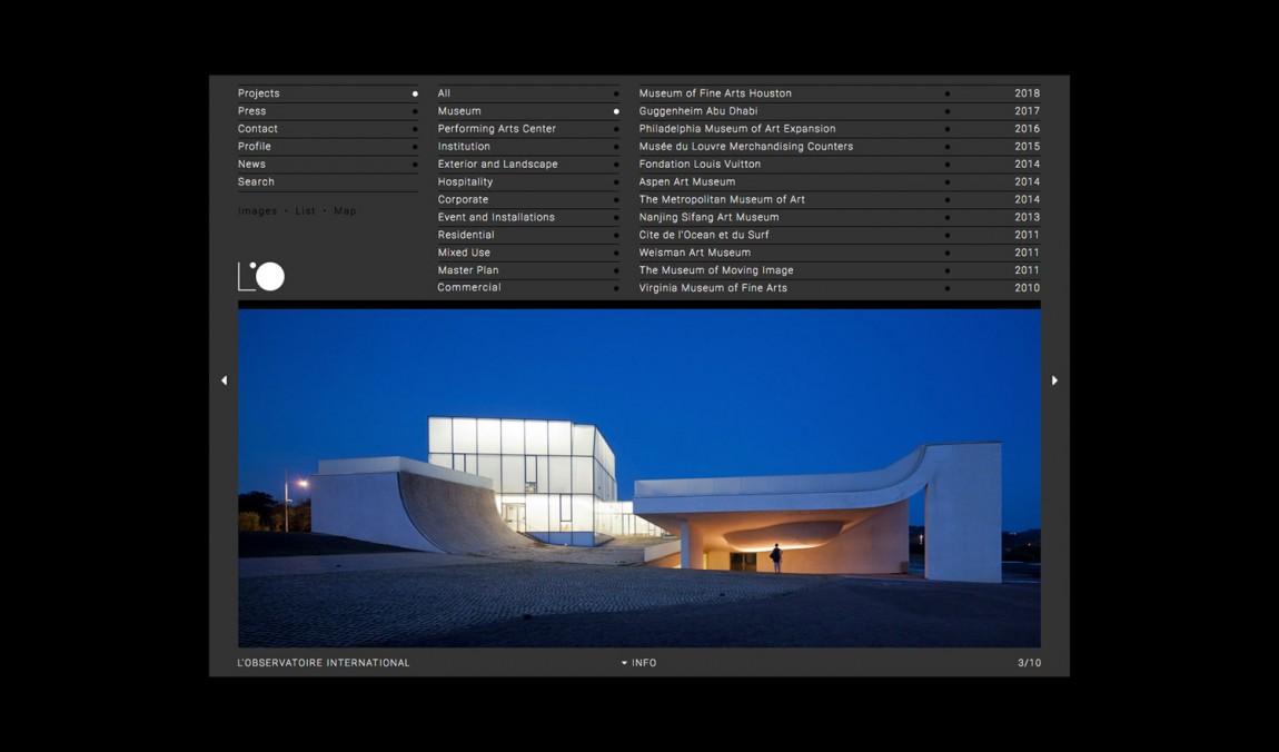 美国LOI照明设计公司VI企业形象设计, 网站设计页面