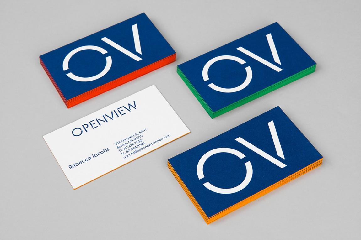 OpenView整体品牌塑造形象设计,名片设计