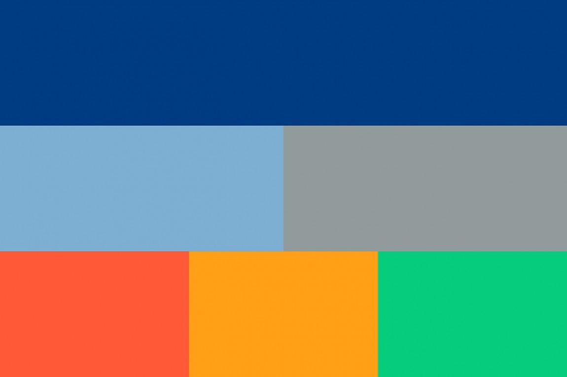 OpenView整体品牌塑造形象设计, 品牌识别色