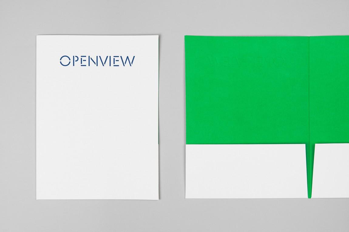 OpenView整体品牌塑造形象设计,文件夹设计