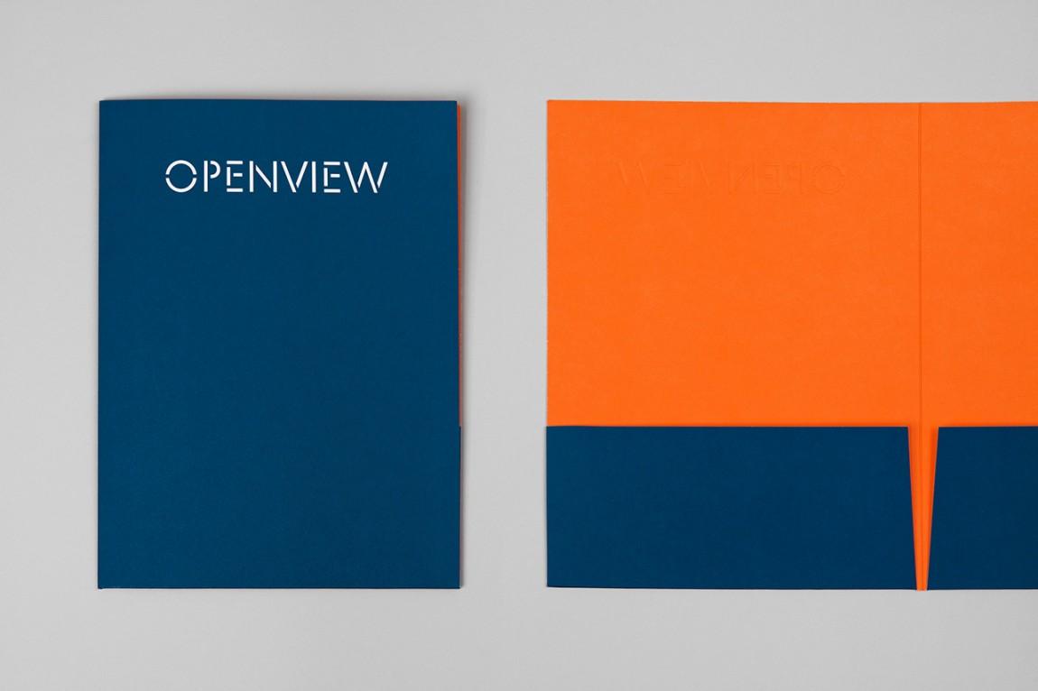 OpenView整体品牌塑造形象设计,合同架设计