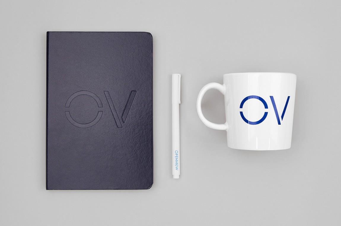 OpenView整体品牌塑造形象设计,笔记本设计