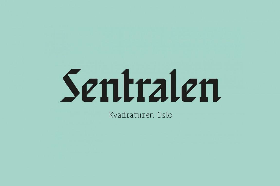 Sentralen文化中心vi企业形象设计,文字logo设计