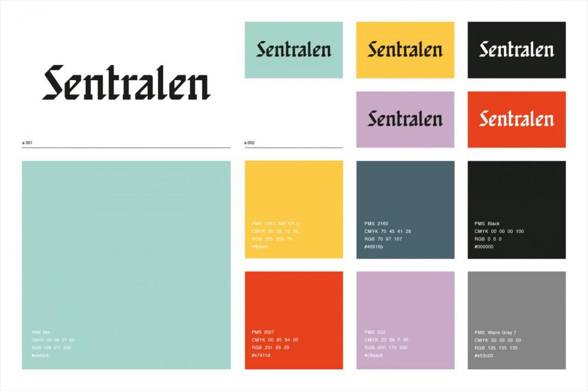 Sentralen文化中心vi企业形象设计, VI设计