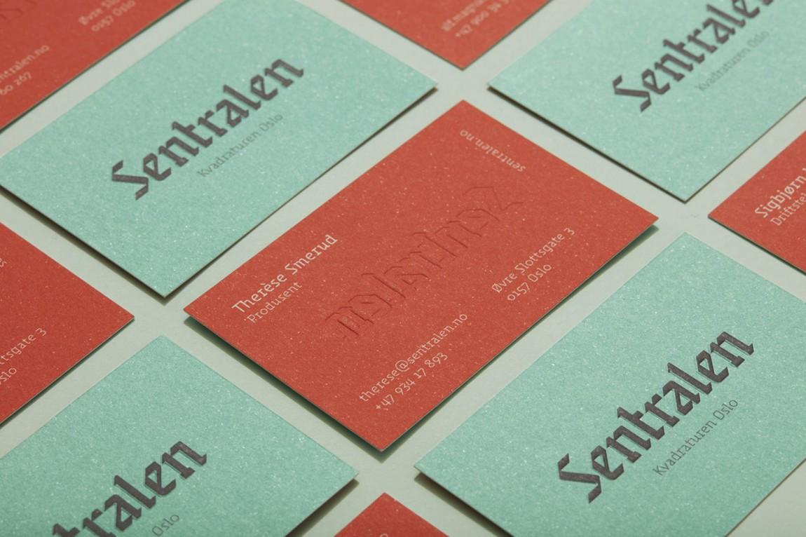 Sentralen文化中心vi企业形象设计,名片设计
