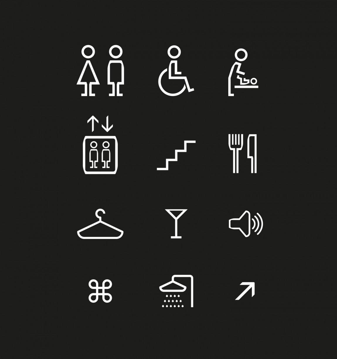 Sentralen文化中心vi企业形象设计, 导视系统设计
