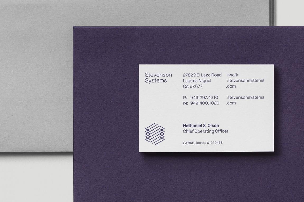 Stevenson Systems 建筑空间咨询公司品牌形象塑造全案设计,名片设计