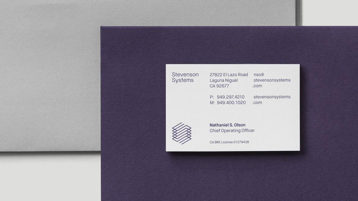 Stevenson Systems 建筑空间咨询公司品牌形象塑造全案设计,办公应用设计