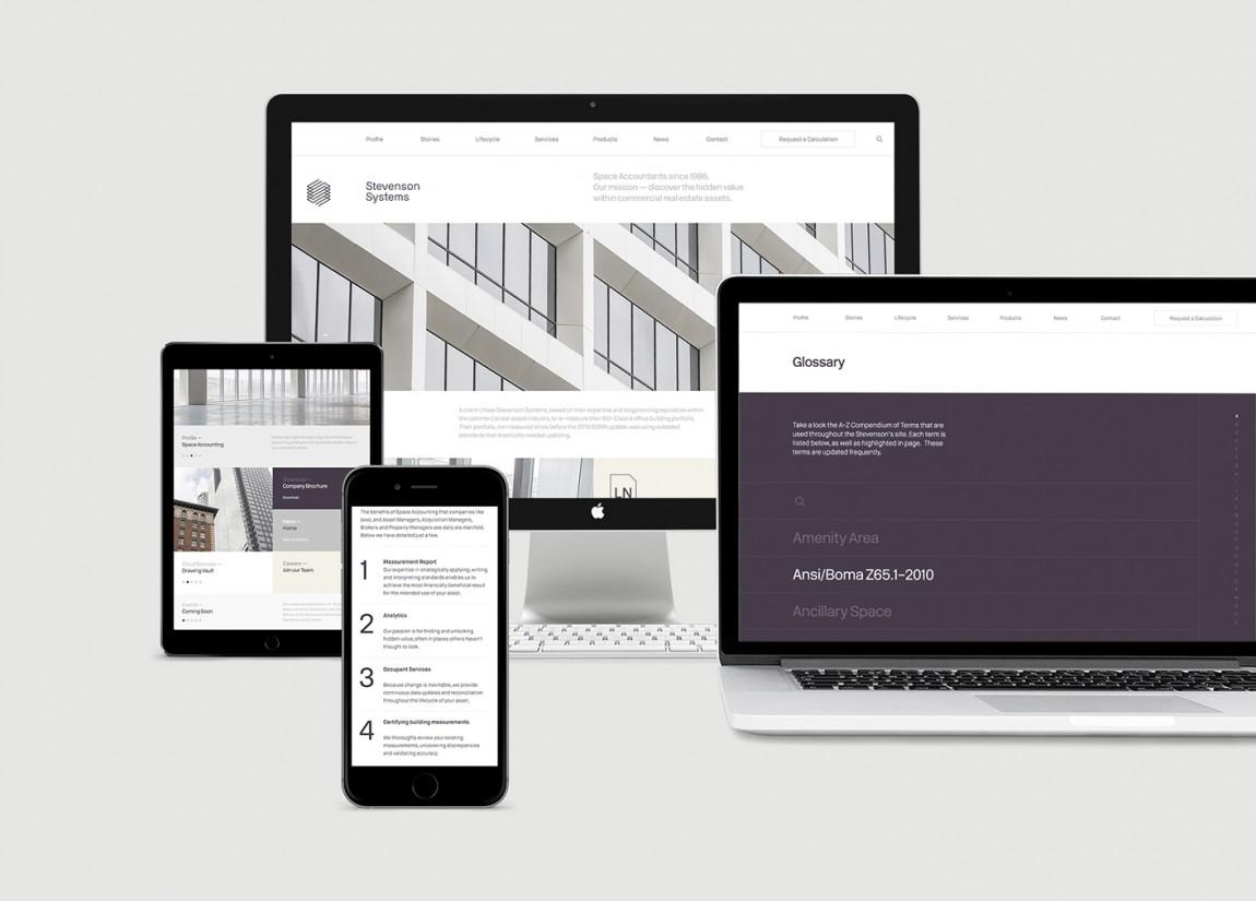 Stevenson Systems 建筑空间咨询公司品牌形象塑造全案设计,网站设计