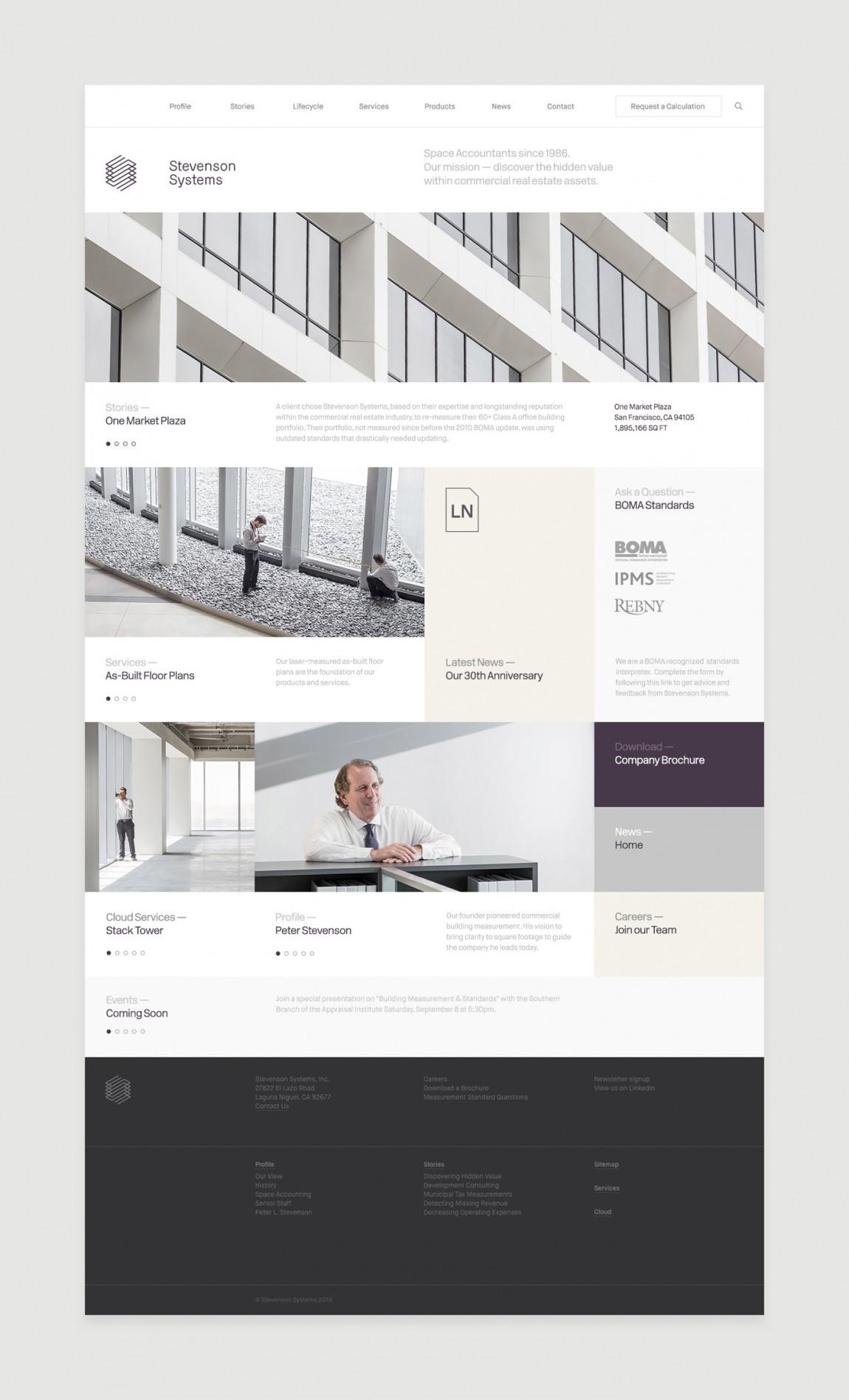 Stevenson Systems 建筑空间咨询公司品牌形象塑造全案设计,企业网站设计