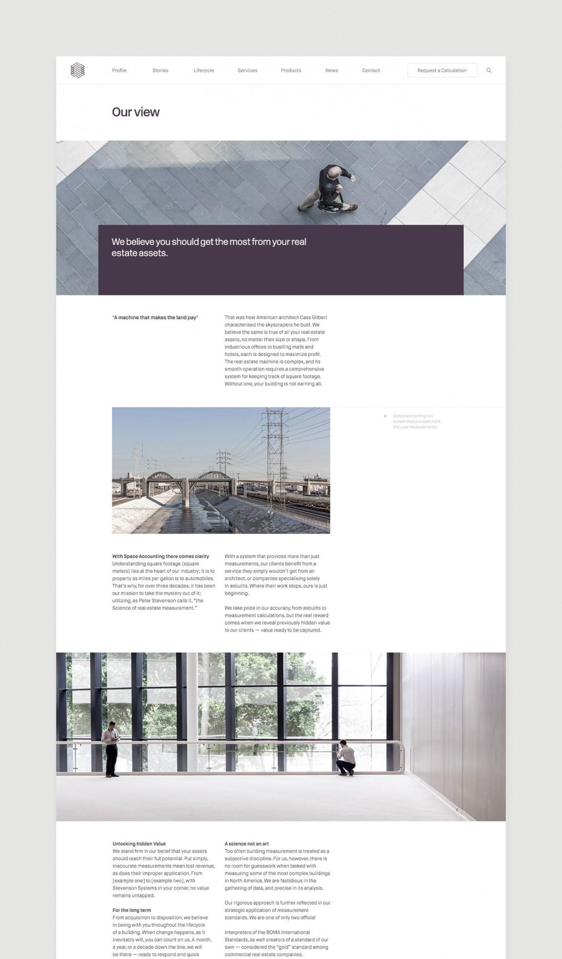 Stevenson Systems 建筑空间咨询公司品牌形象塑造全案设计,官网设计