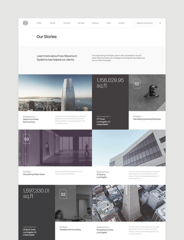 Stevenson Systems 建筑空间咨询公司品牌形象塑造全案设计,公司网站设计