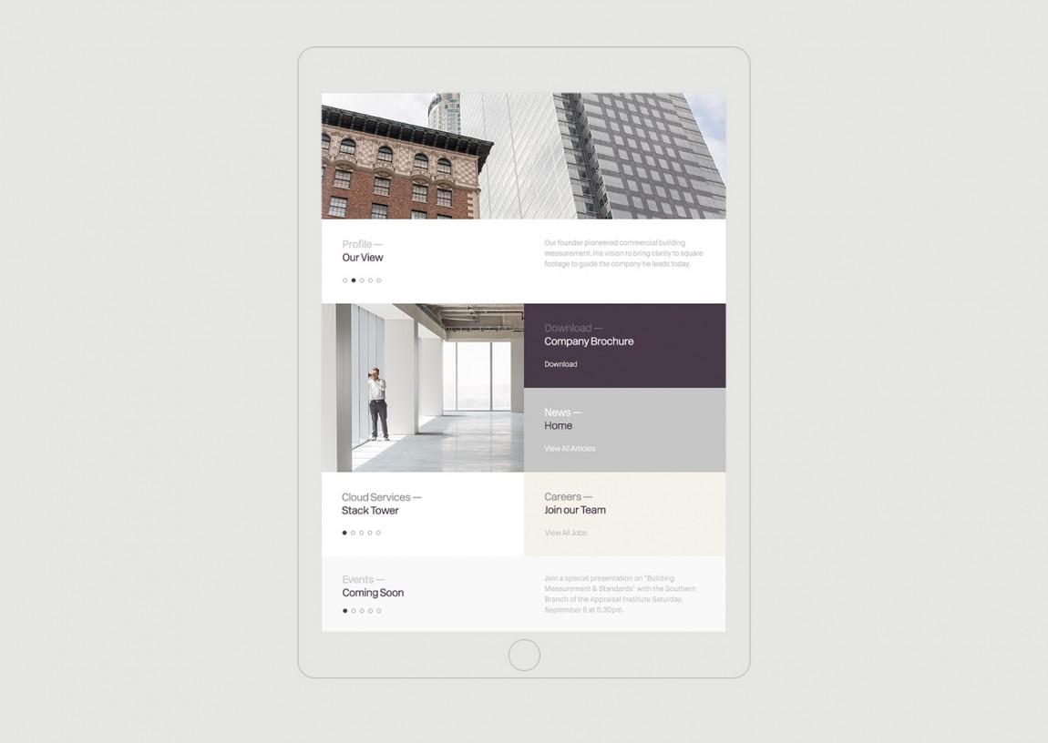 Stevenson Systems 建筑空间咨询公司品牌形象塑造全案设计,平板网站设计