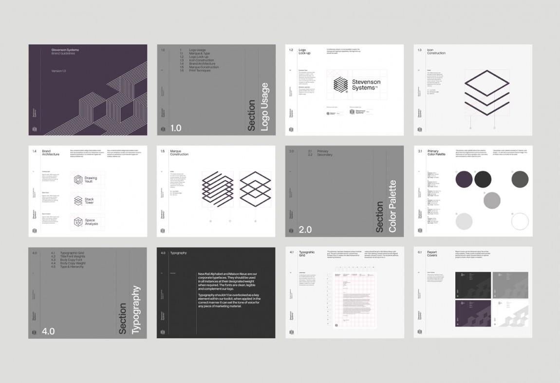 Stevenson Systems 建筑空间咨询公司品牌形象塑造全案设计,广告设计