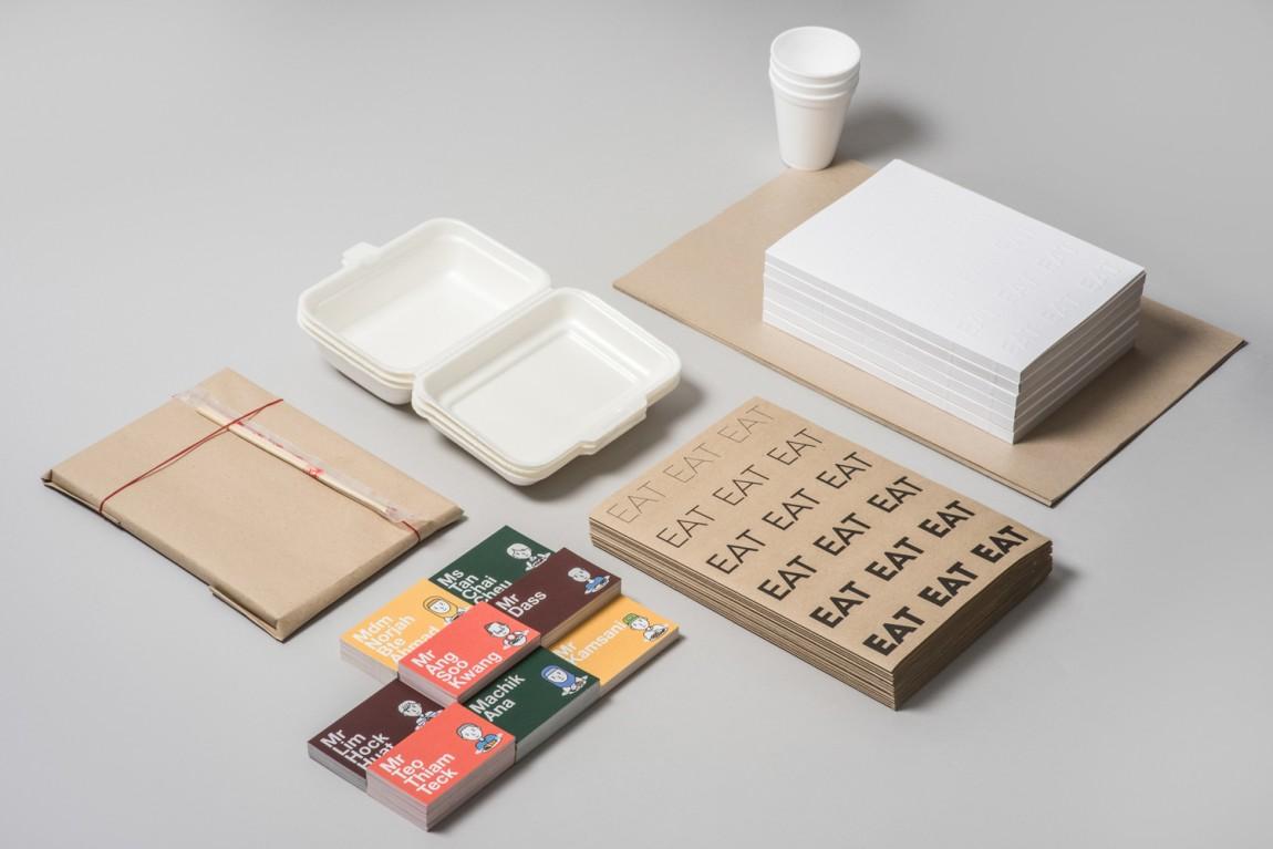 新加坡EAT美食节视觉识别形象设计, 餐饮物料设计