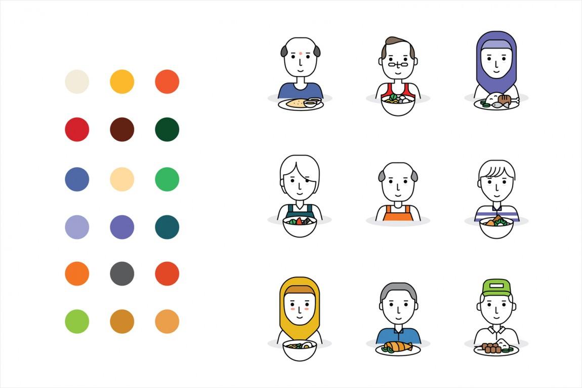 新加坡EAT美食节视觉识别形象设计,图标设计