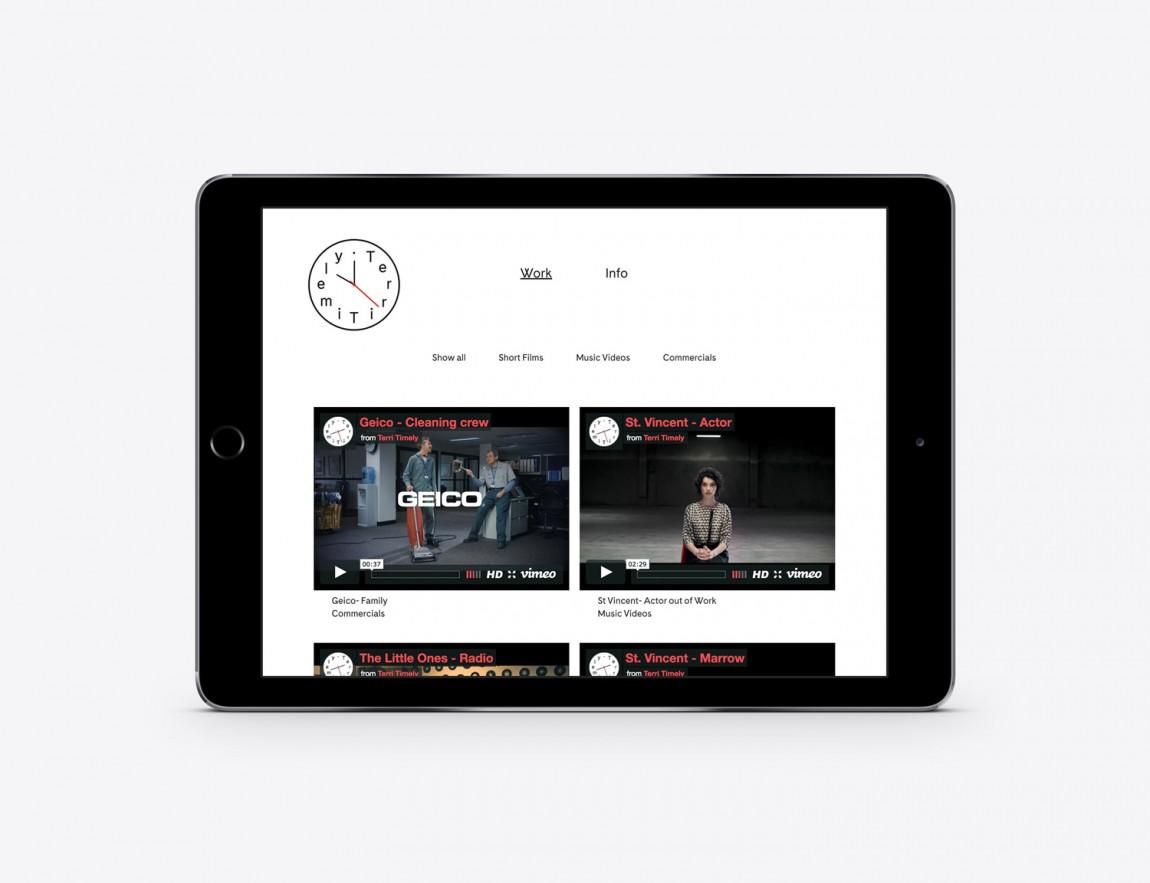 Terri Timely影视公司品牌形象识别系统VIS设计,网站设计