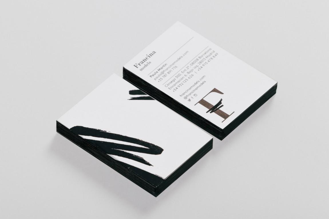 时装模特经纪公司品牌VI设计,名片设计