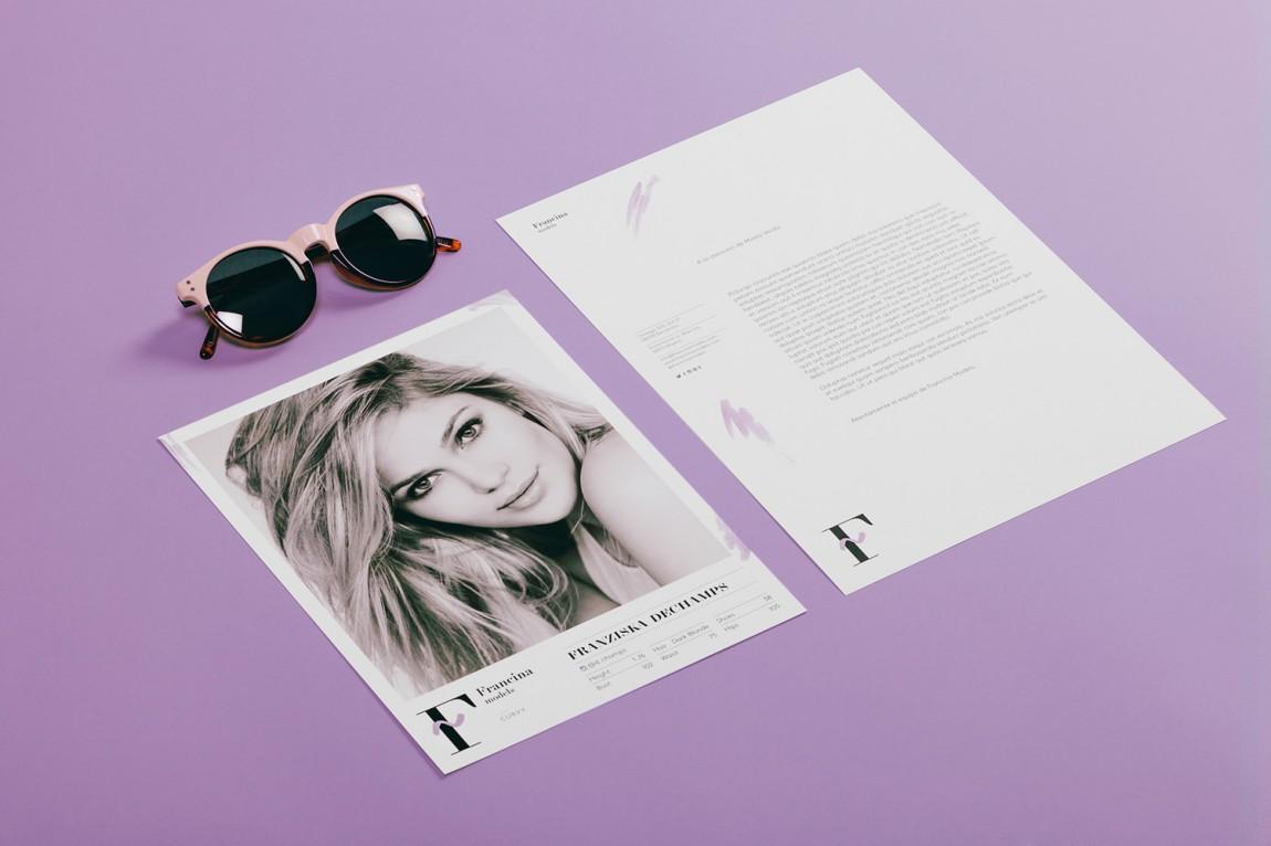 时装模特经纪公司品牌VI设计,市场推广设计