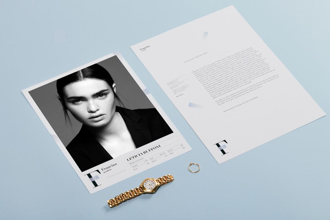 时装模特经纪公司品牌VI设计,折页设计