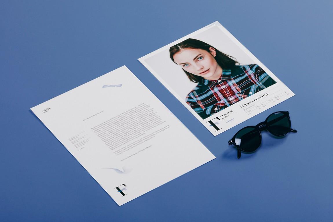 时装模特经纪公司品牌VI设计,单页设计