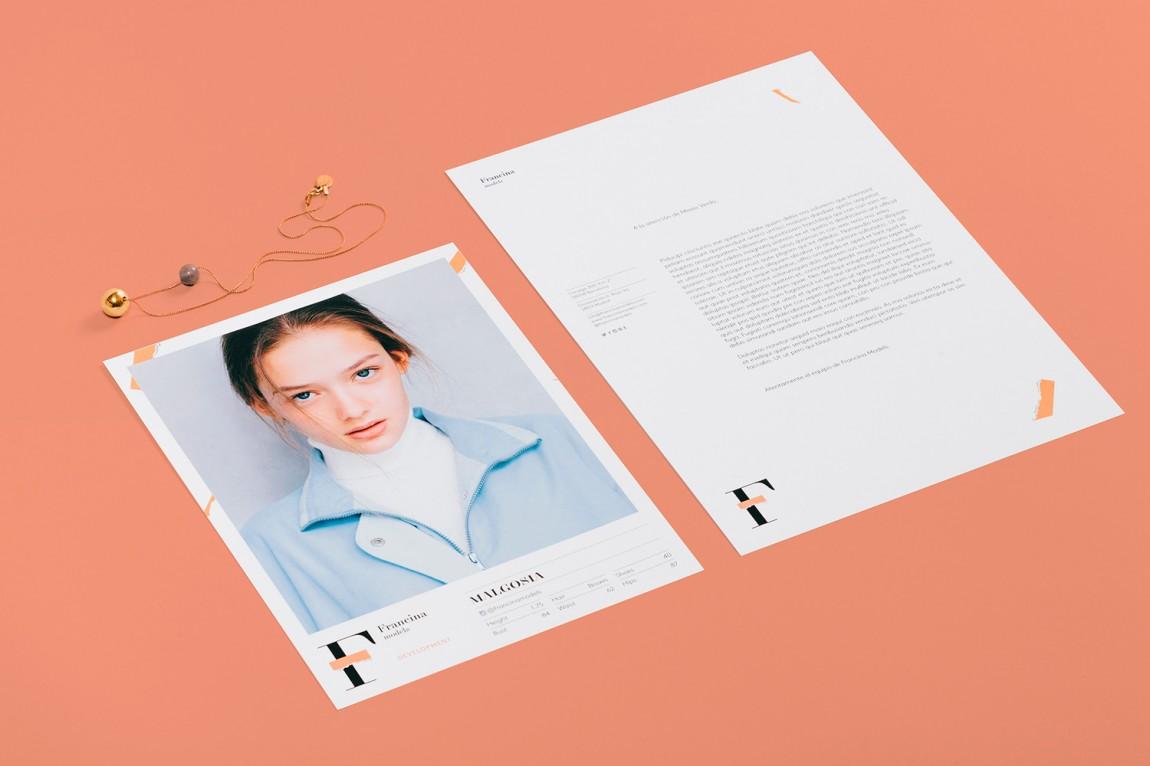 时装模特经纪公司品牌VI设计,模特说明物料设计