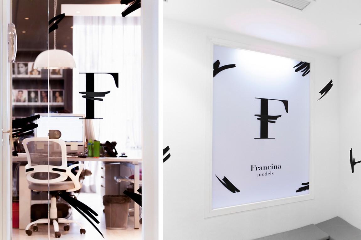 时装模特经纪公司品牌VI设计,模特说明物料设计,办公空间设计