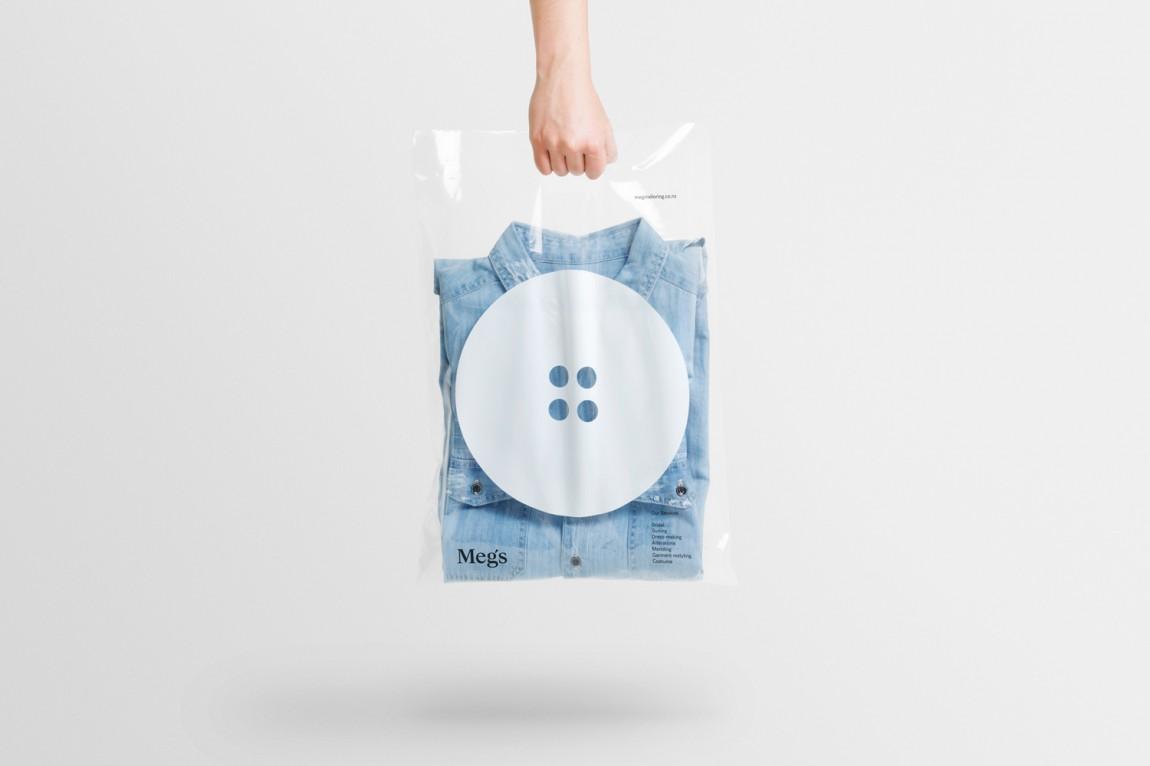 高端设计师服饰Meg's品牌VI设计, 包装袋设计
