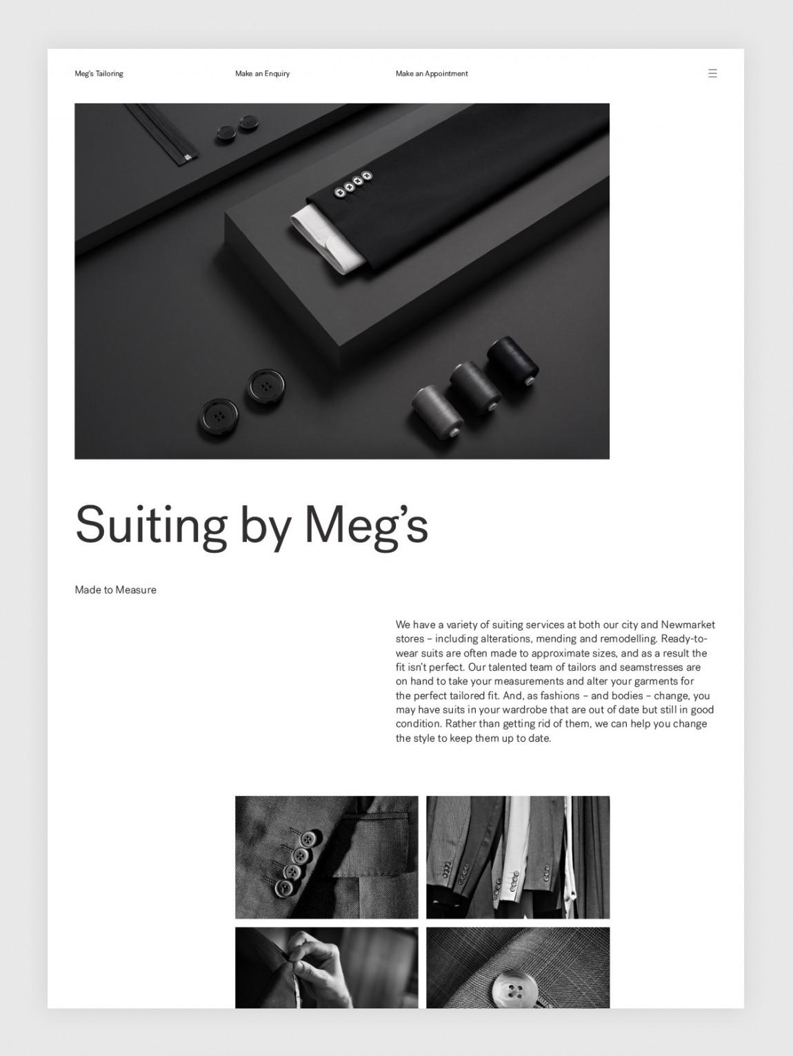 高端设计师服饰Meg's品牌VI设计, 企业网站设计