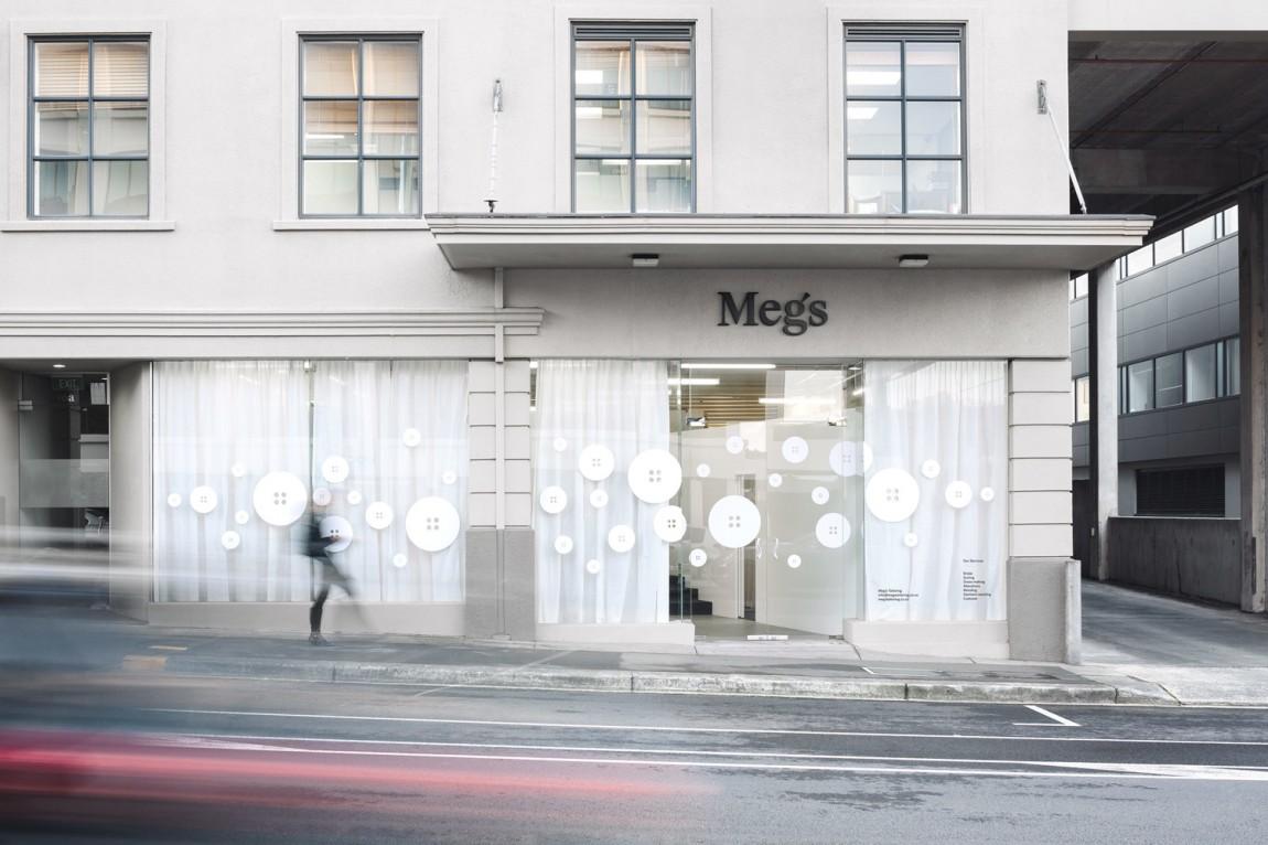 高端设计师服饰Meg's品牌VI设计, 店面形象设计