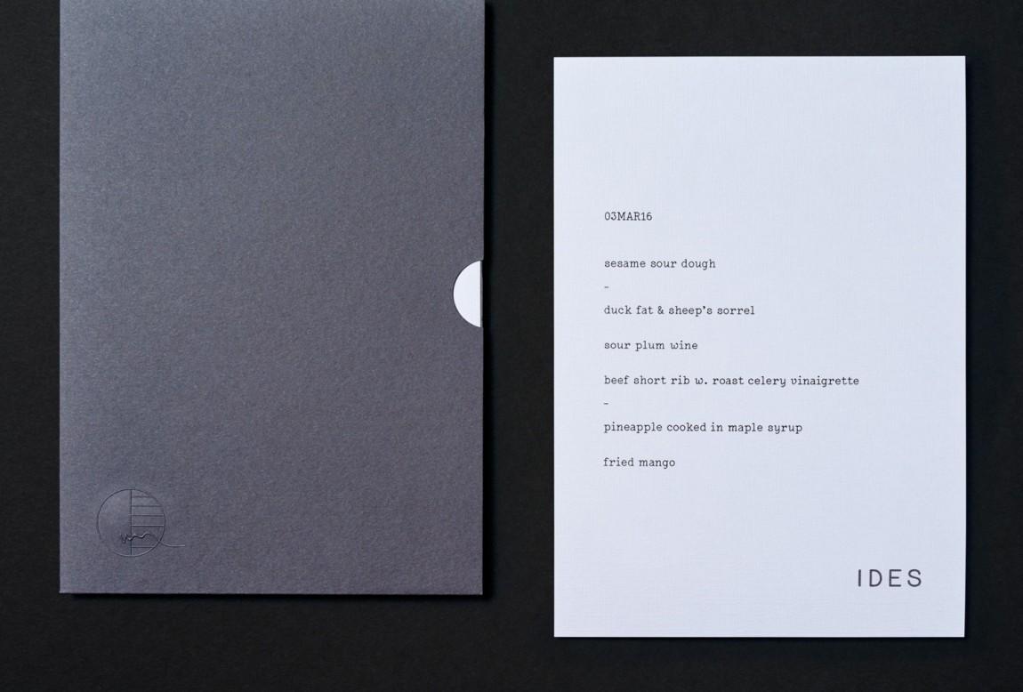 网红餐厅IDES餐饮品牌VI设计视觉识别系统, 台卡设计