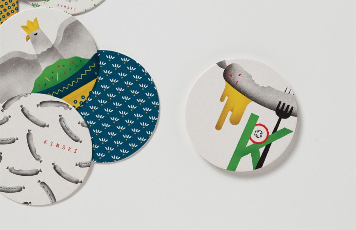 Kimski韩式餐厅餐饮品牌形象设计,餐具设计
