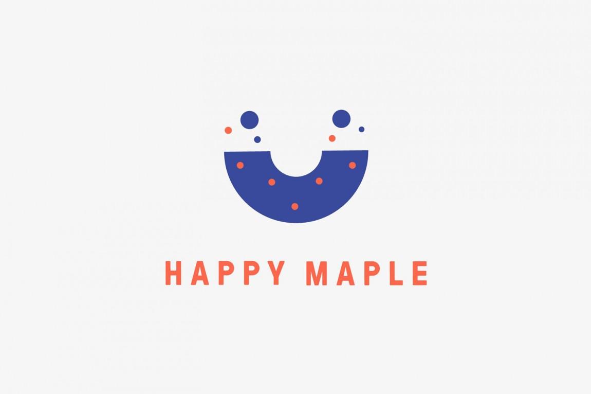 包房Happy Maple面包店连锁品牌形象设计。LOGO设计