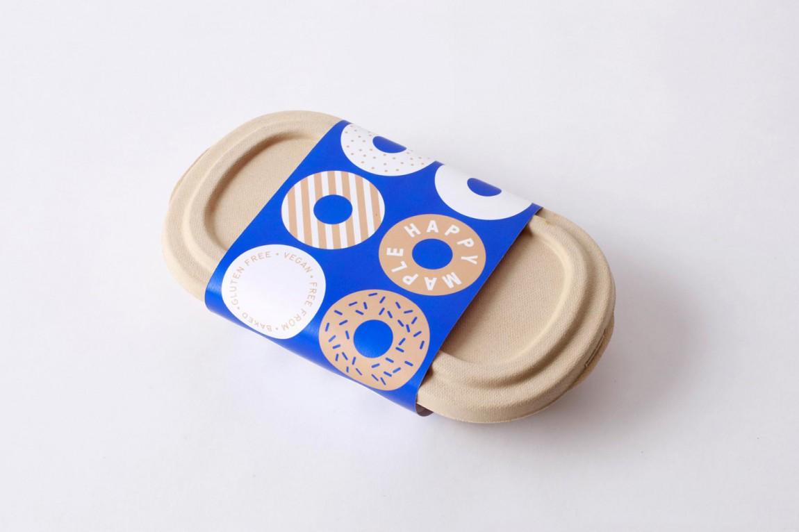 包房Happy Maple面包店连锁品牌形象设计,外带包装盒设计