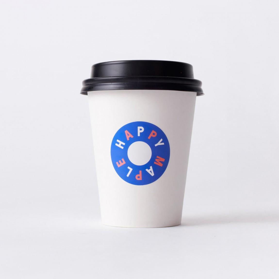 包房Happy Maple面包店连锁品牌形象设计,饮料杯设计