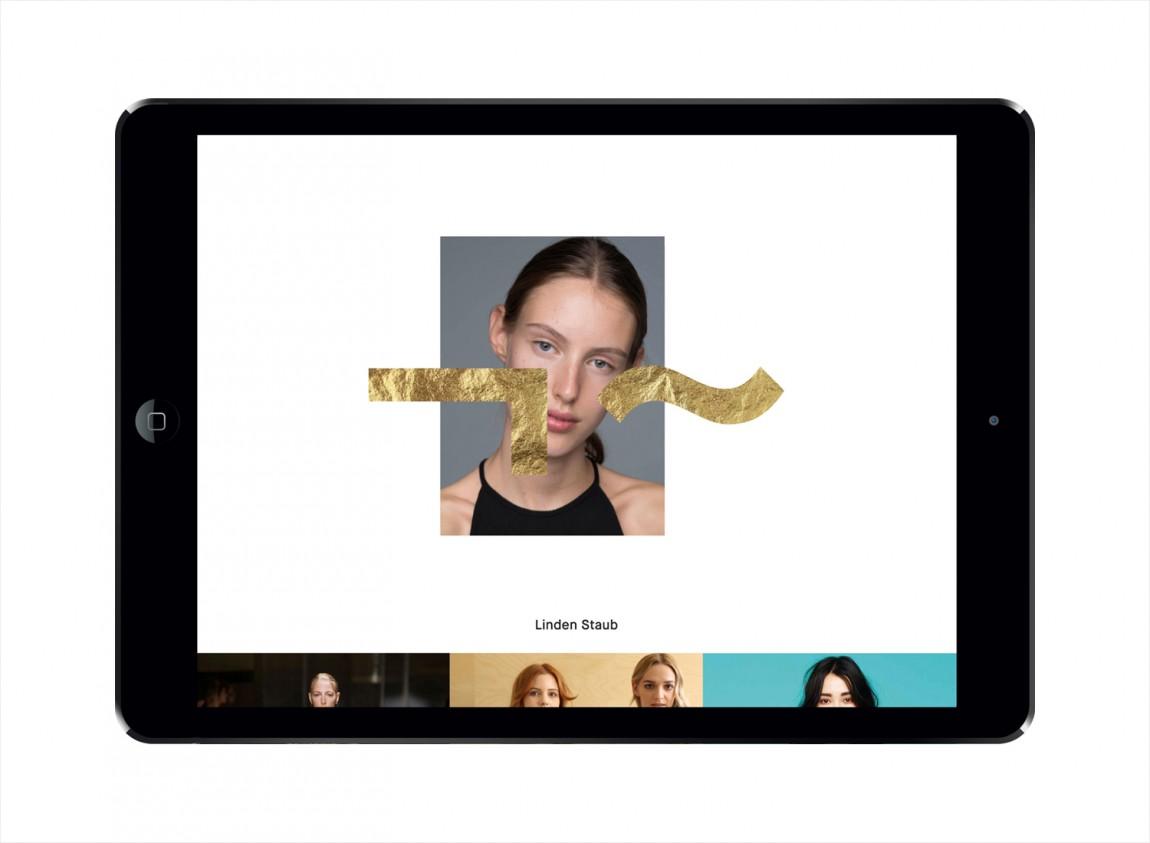 模特经纪公司品牌包装设计,低调大气上档次,网站设计