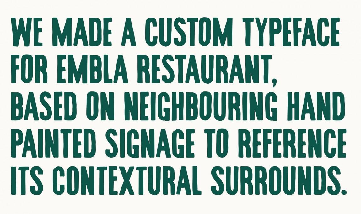 酒吧餐厅Embla餐饮品牌形象设计包装方案,字体设计