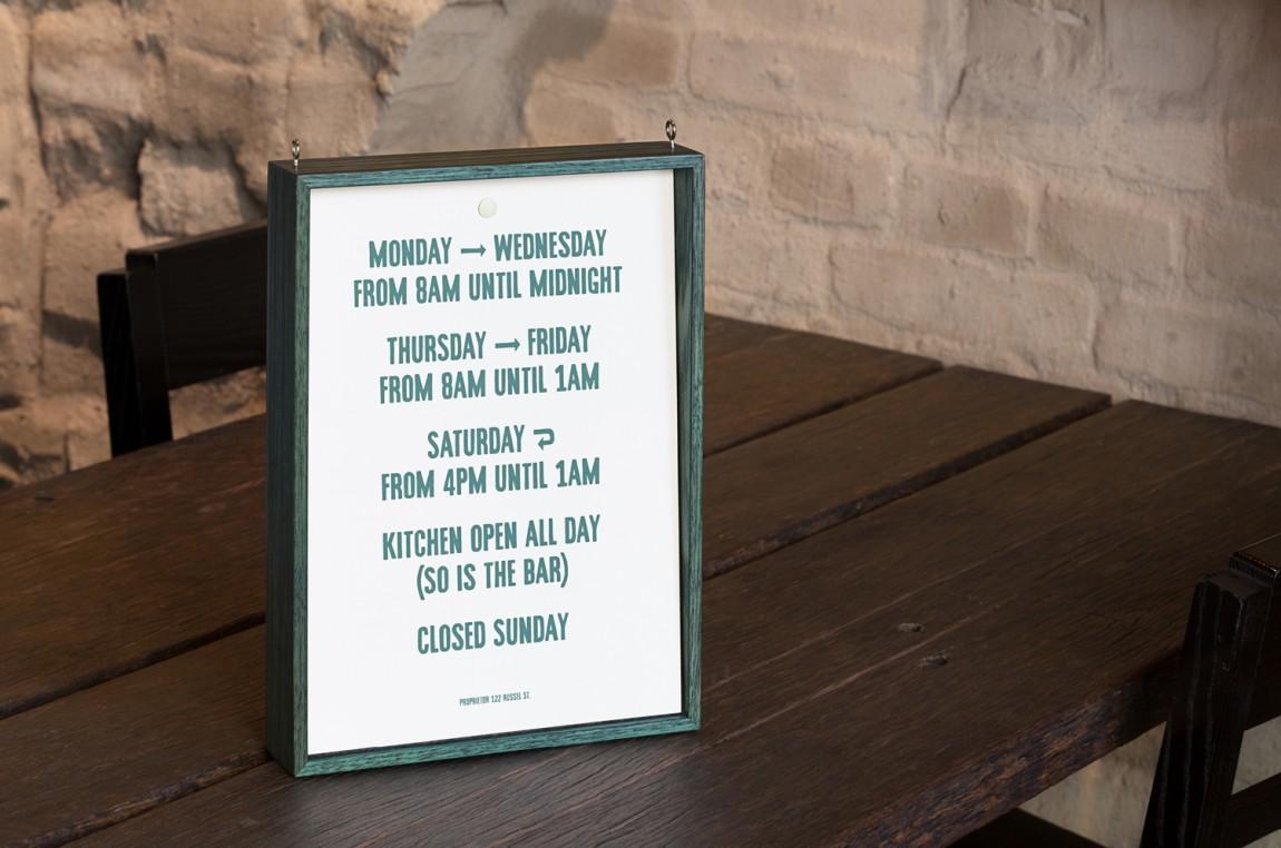 酒吧餐厅Embla餐饮品牌形象设计包装方案,台卡设计