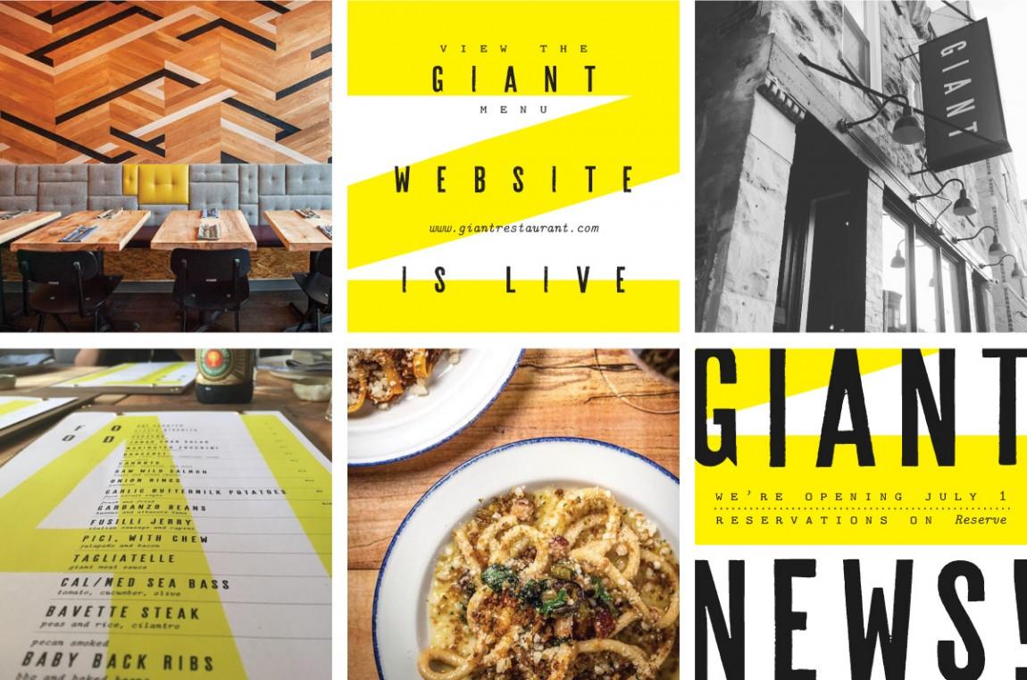 Giant概念餐厅品牌设计, 餐饮空间设计